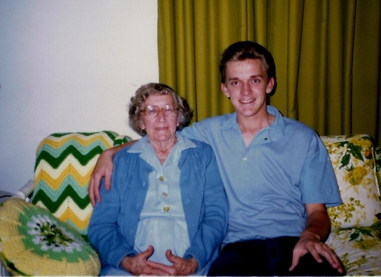 Her favorite grandson!