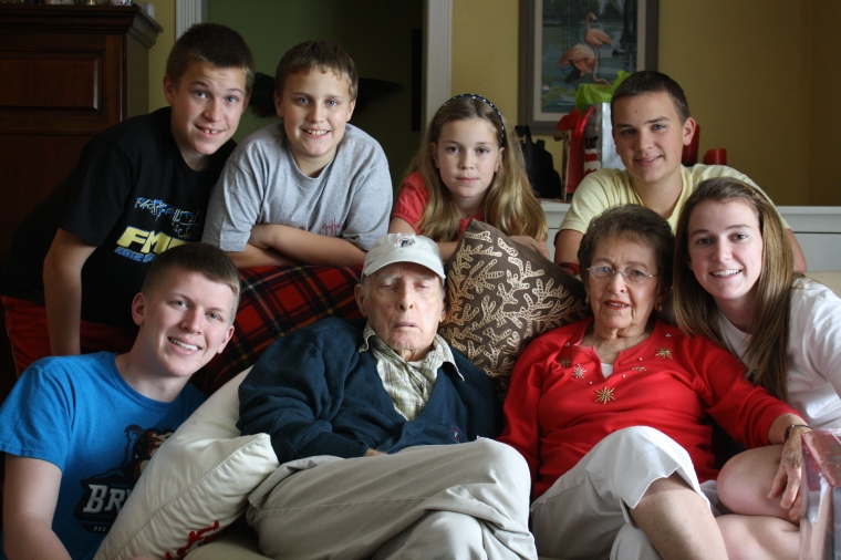 Christmas 2012 - our last one with Dad.  He was ready to see his heavenly Father.
