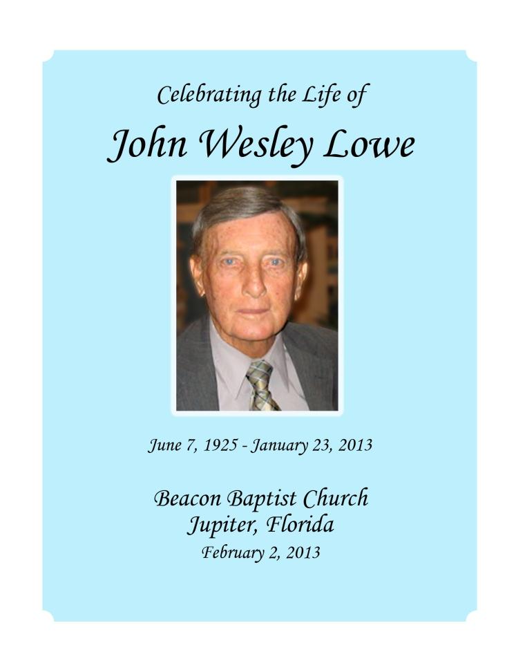 John Wesley Program pages 1,12