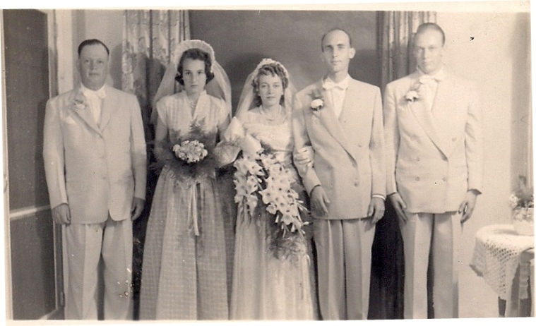 Wedding - Basil on far left