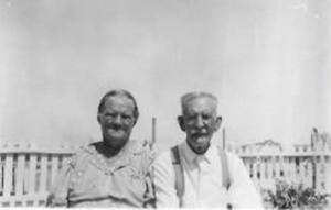 Dora Curry Roberts and William Roberts. Photo courtesy of Lisa McCoy, great, great granddaughter.